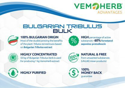 Advantages: VemoHerb Bulgarian Tribulus Potent extract in bulk