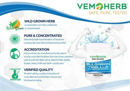 Safe Pure Tested: VemoHerb Bulgarian Tribulus Potent extract in bulk