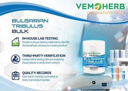 Laboratory tests: VemoHerb VemoHerb Bulgarian Tribulus Potent extract in bulk