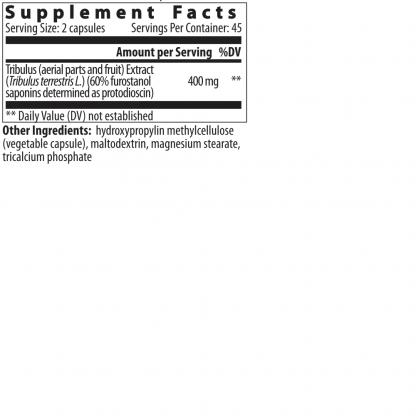 supplement facts Bulgarian Tribulus