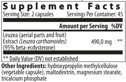 supplement facts Ecdysterone