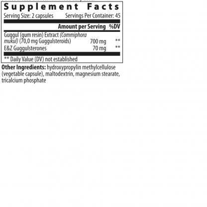 supplement facts guggul extract