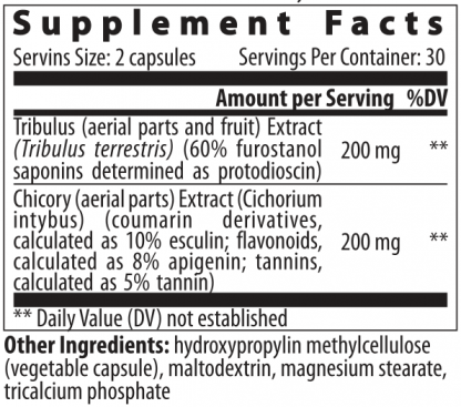 supplement facts chicory