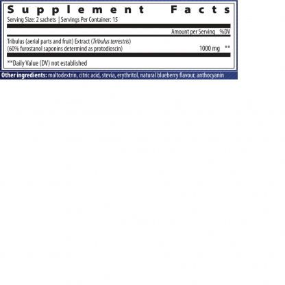 supplement facts tribulus extracts