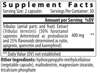 supplement facts tribulus