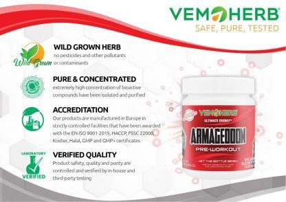 Safe Pure Tested: VemoHerb Armageddon