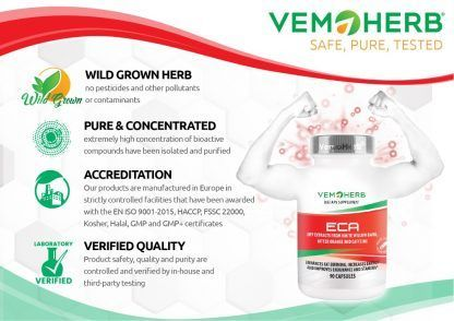 Safe Pure Tested: VemoHerb ECA