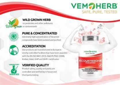 Safe Pure Tested: VemoHerb Ecdysterone