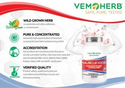 Safe Pure Tested: VemoHerb Muscle Kick