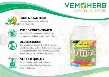 Safe Pure Tested: VemoHerb VeganPro
