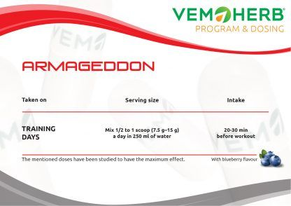 Program and Dosing: VemoHerb Armageddon