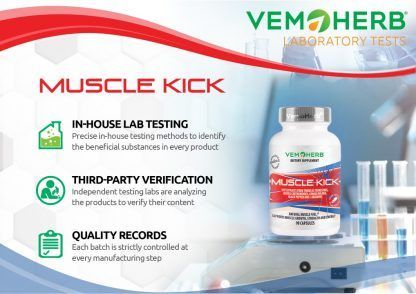 Laboratory Tests: VemoHerb Muscle Kick