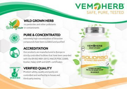 Safe Pure Tested: VemoHerb Solidago