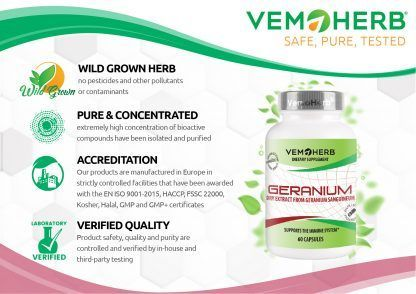 Safe Pure Tested: VemoHerb Geranium