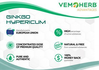 Advantages: VemoHerb Ginkgo Hypericum