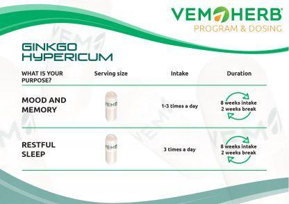 Program and Dosing: VemoHerb Ginkgo Hypericum