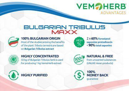 Advantages: VemoHerb Bulgarian Tribulus MAXX