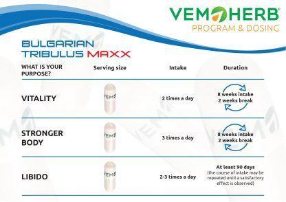 Program and Dosing: VemoHerb Bulgarian Tribulus Maxx