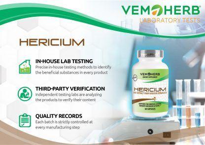 Laboratory Tests: VemoHerb Hericium