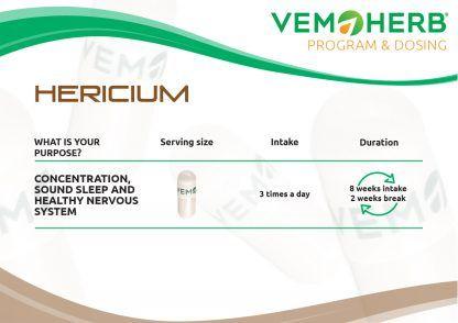 Program and Dosing: VemoHerb Hericium