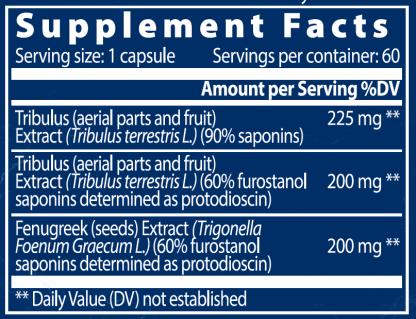 Bulgarian Tribulus Maxx Supplement Facts